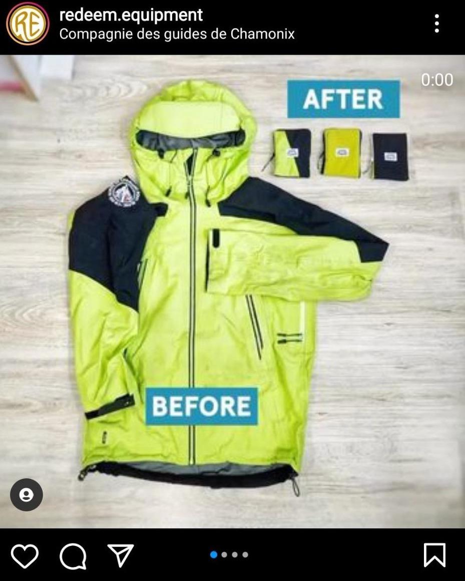 Exemple avec le travail de Redeem sur une veste d'outdoor